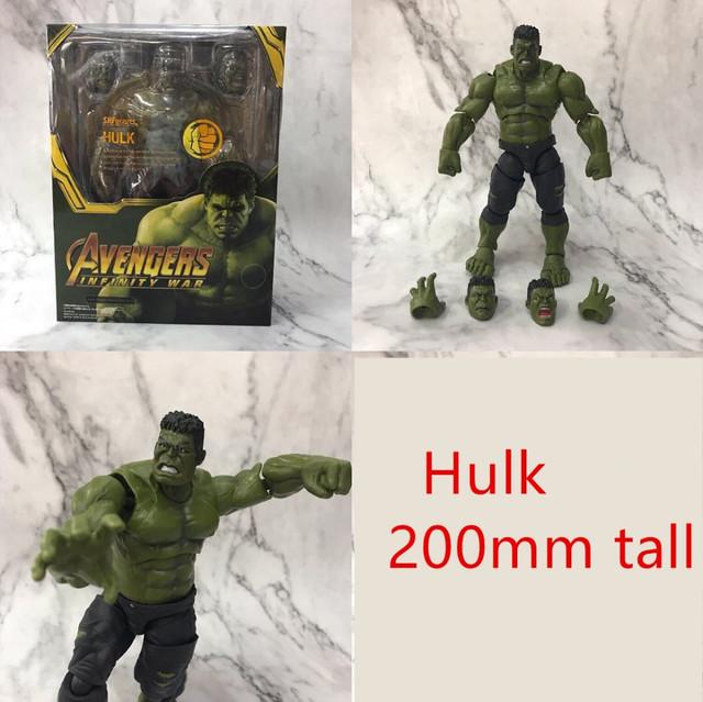 Avengers Endgame Iron Man Thanos Hulk Captain America PVC Action Figures Anime Toys Avangers Infinity War Brinquedos Juguetes