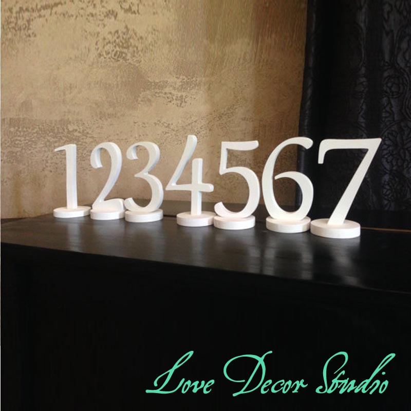 5  высокий DIY лес числа ~ деревенский акценты для свадебного стола - элегантный деревянные цифры, Свадьба украшение стола ( 1 - 11 )