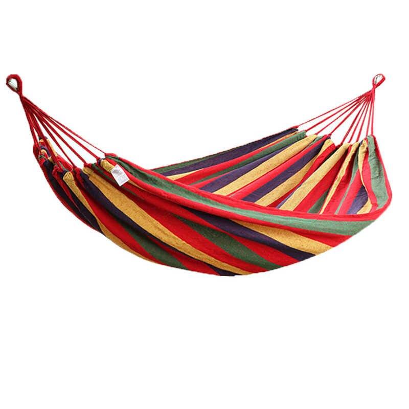 Nueva hamaca doble de viaje al aire libre hamaca de Camping muebles silla Columpio de jardín de caza cama colgante dormitorio cama suave portátil
