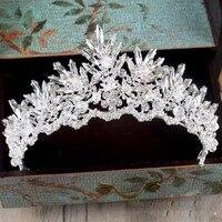 Barocco Strass In Rilievo Di Cristallo Fascia Tiara sposa crown nozze di lusso Coreano ornamenti per capelli