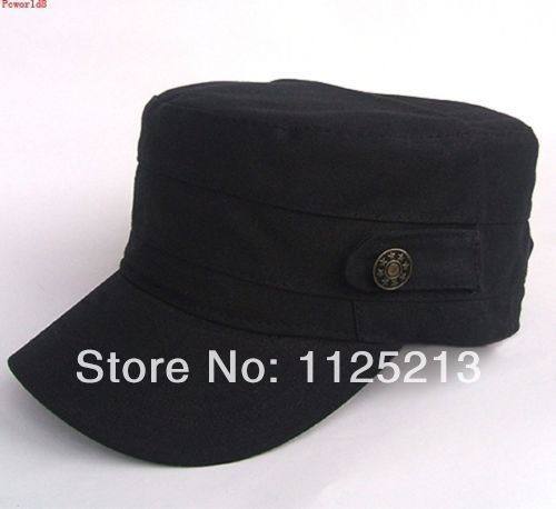 1d6845d128a Fashion Plain Retro Mens Caps Army Castro Military Style CADET Patrol Caps  hat Hats Unisex coffee Black Green-in Holidays Costumes from Novelty    Special ...