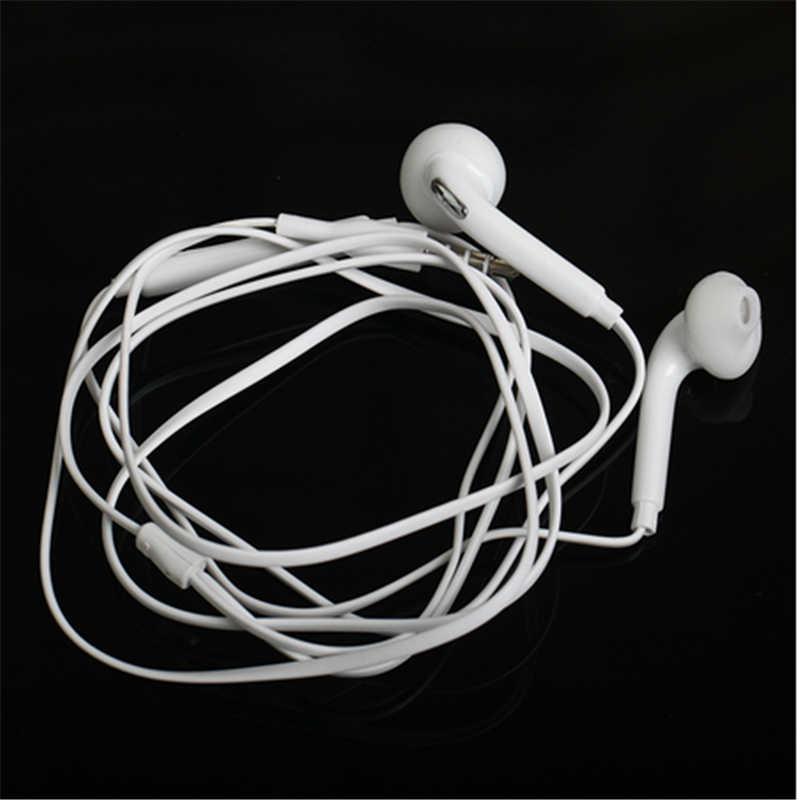 S6 sportowe słuchawki douszne z mikrofonem 3.5mm douszne słuchawki przewodowe słuchawki douszne słuchawki douszne Stereo fone de ouvido Headpset uniwersalny dla Xiaomi iPhone PC S8