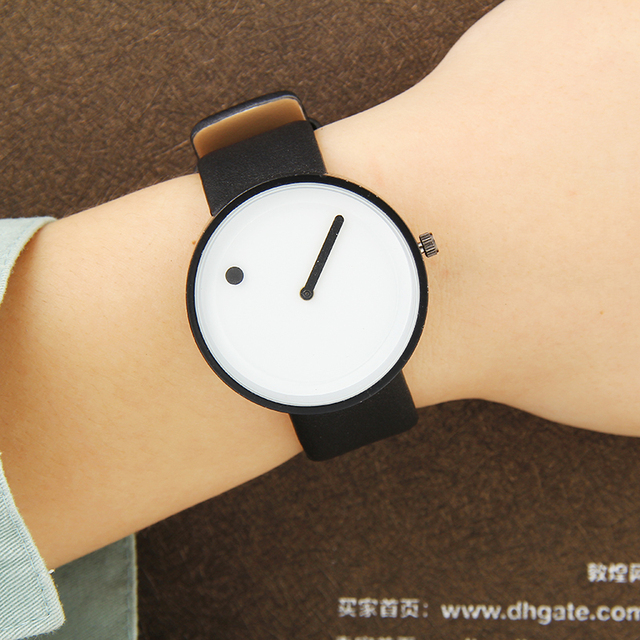 BGG Minimalist style creative wristwatches Women Men new design Dot and Line sim