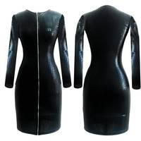 Hot Women PVC Bandage Dress Ladies Latex Leather Dress Sexy Party Bodycon Women S Wet Look