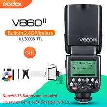 Godox V860II C/N/S/F/O GN60 2.4 gam TTL HSS 1/8000 Mà Không Có VB18 Pin Máy Ảnh speedlite Flash cho Canon Nikon Sony Fuji Olympus