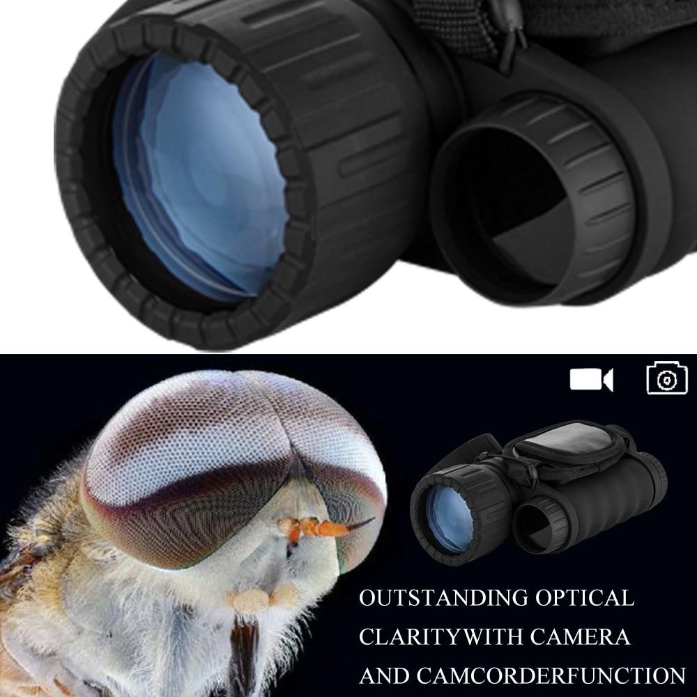 6x50mm HD Rəqəmsal Ovçuluq Gecə Görmə Monocular Gözlüklər - Düşərgə və gəzinti - Fotoqrafiya 5