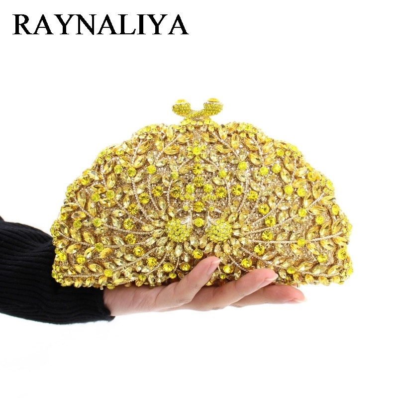 Luxury Peacock Crystal Evening Bags Animal Clutch Designer Women Clutches Bridal Wedding Handbags Purses Party Bag ZH-A0212 2017 luxury flower evening bag handmade diamond clutch bags women crystal butterfly handbags party velvet clutches purses jxy784