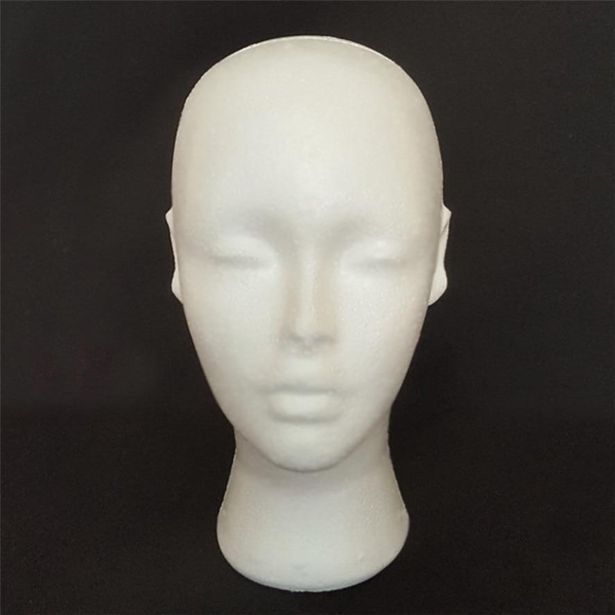 New Arrival Wig Stand 1PC Styrofoam Foam Mannequin Female Head Model Dummy Wig Glasses Hat Display Stand Wig head stand Pretty mannequin