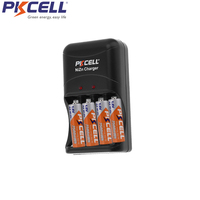 8Pcs PKCELL Rechargeable Battery AA 1.6V highest 1.8v 2500mWh ni zn battery Charger 4slot fast Charge 2 To 4 AA Or AAA batteries