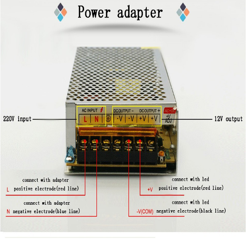 Image 5 - DC 12V LED strip driver Power Adapter 1A 2A 3A 5A 10A 15A 20A Switch Power Supply AC110V 220V 24V Transformer Power 60W 78W 120W-in Lighting Transformers from Lights & Lighting