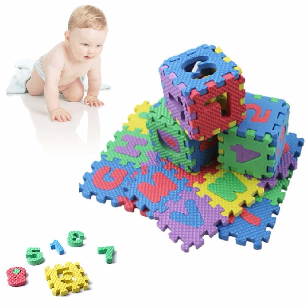 Alphabet & Numerals Baby Kids Play Mat Educational Toy Soft Foam Mats 36pcs