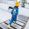 2017 весной новый синий после желтые буквы мужчины и женщины cowboy шестьдесят брюки свободные брюки бесплатная доставка