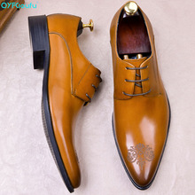 QYFCIOUFU 2019 Hot Handmade Designer formal shoes men Fashion Party carving Wedding Men dress shoes Genuine Leather oxford shoes christia bella fashion handmade formal mens dress shoes genuine leather spikes studded zebra men s evening wedding party shoes