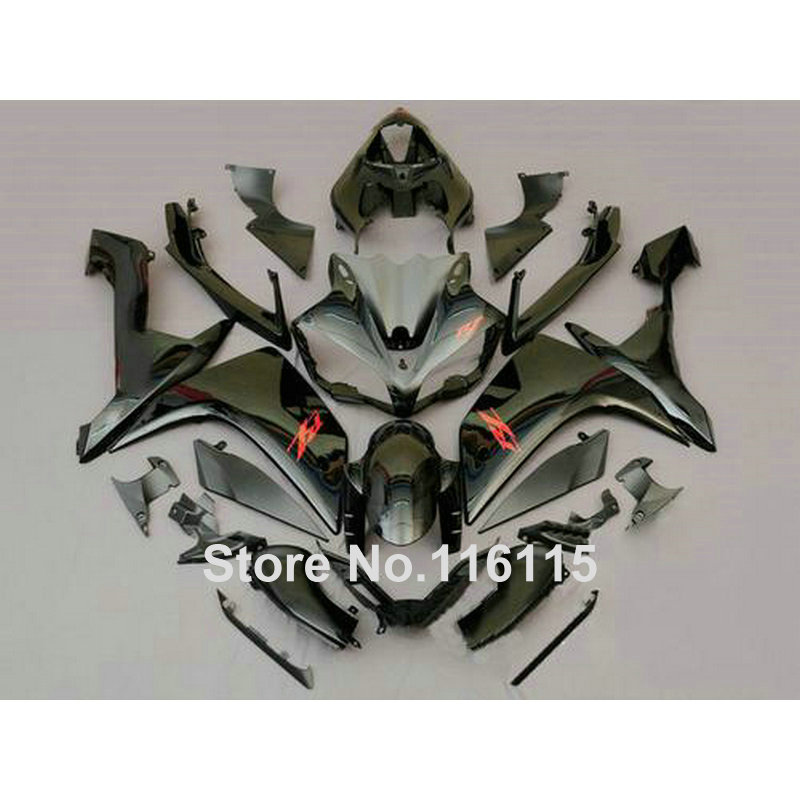 Injection molding lowest price plastic fairing kit for YAMAHA YZF R1 2007 2008 YZF R1 07 08 all black fairings set QZ55