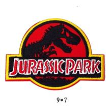 JURASSIC WORLD PARK Logo Zoo Movie Kid Baby Jacket T shirt Patch Sew Iron on Embroidered Symbol Badge Cloth Sign Costume(China)
