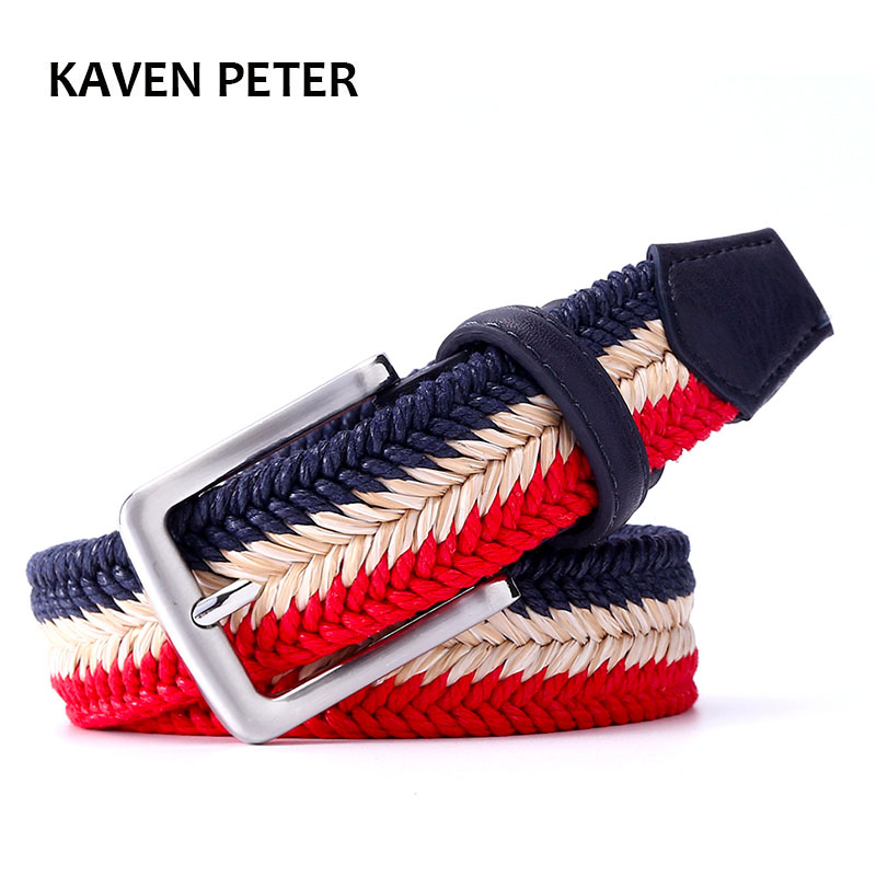 The Newest Unisex Braided Woven Belt Mixed Color  For Jeans Wax Rope And Straw Material Belt Suit  Woman And Men With Big Size