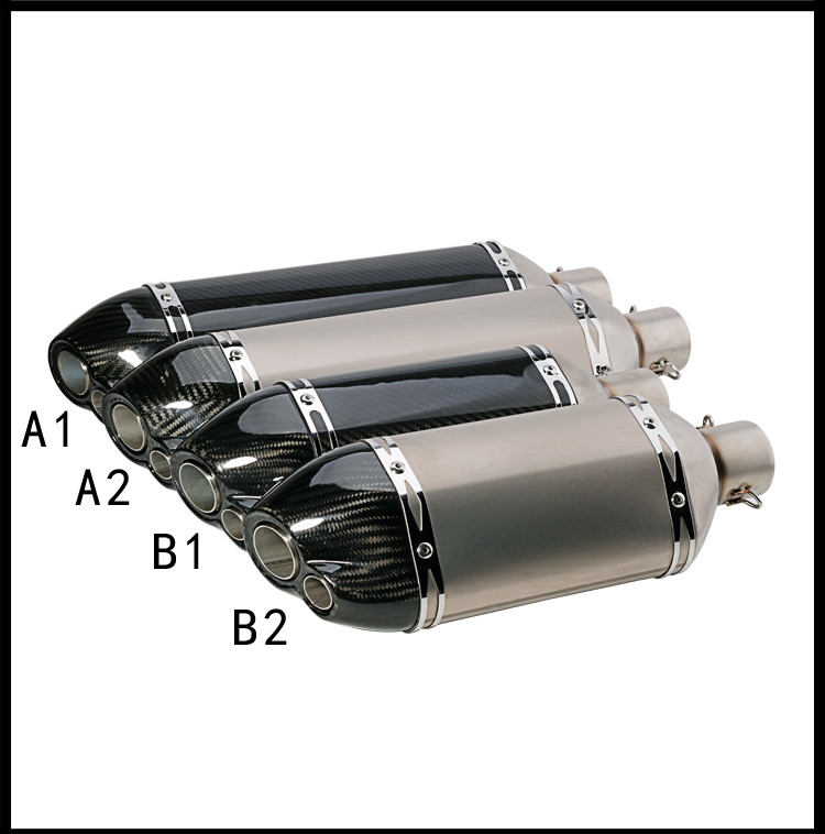 51mm Inlet Carbon Fiber Motorcycle Exhaust Muffler Pipe AR Motorbike Exhaust Pipe with Carbon Fiber Clamp z800 bn600 double hole for bmw motorcycle exhaust pipe muffler inlet 51mm 61mm r3 gp exhaust mufflers carbon fiber exhaust pipe with sticker laser logo