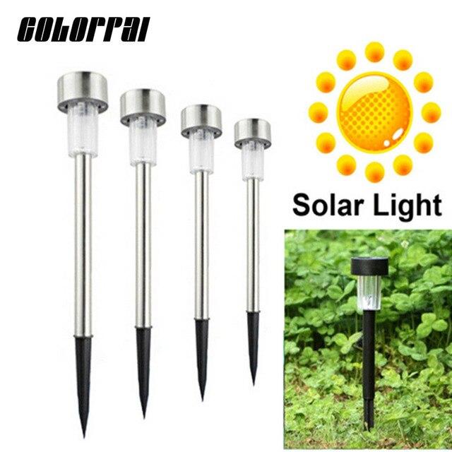 € 24.77 28% de réduction|Livraison gratuite 10 pcs/lot en acier Inoxydable  pelouse lumière Solaire pour jardin drcorative 100% de la puissance solaire  ...