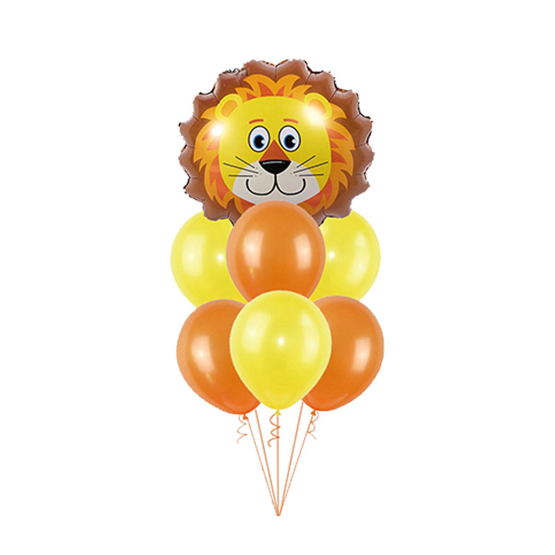 Image 3 - 1Set Foil Jungle Animal Balloons Tiger Lion Monkey Zebra Giraffe Elephant Baby Shower Children Happy Birthday Party Decoration-in Ballons & Accessories from Home & Garden