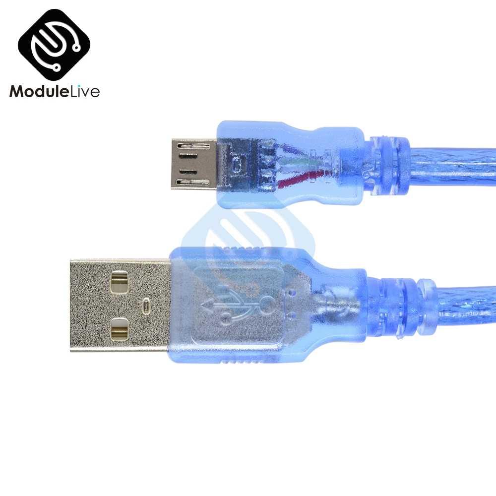 30cm USB 2.0 A mikro USB męski 5 pin męski danych kabel ładujący