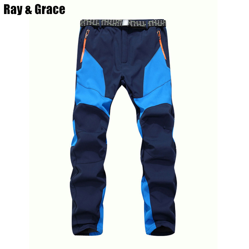 Winter Men Warm Softshell Fleece Pants Skiing Snowboard Outdoor Sport Hiking Trousers Grey Camping Climbing Breath Snow Pants outdoor pants hiking climbing warm fleece waterproof windproof trousers man hot brand medium thickness pants men trousers male