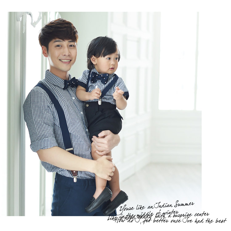 e0cfe2dc0628 Family Matching Outfits Korean Style Mother Daughter Dress Mother Son Outfits  Evening Suit Family Matching Clothes Family Look-in Matching Family Outfits  ...