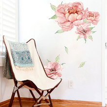 New 40*60cm Pvc Removable Wall Sticker 3D Simulation Rose Wallpaper Home Decor House Bedroom Room Decoration