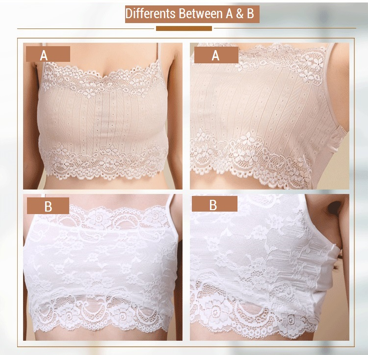 100% Real Silk Women's Tube Tops Femme Shoulder Sleeve Women Sexy Lace Wrap Chest Female Solid Wild Bottoming Woman 3
