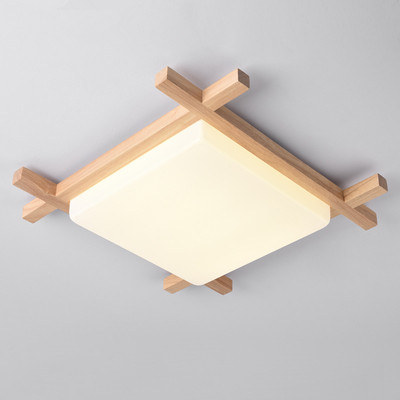 Nordic LED Wooden Ceiling Lights In Square Shape lamparas de techo For Bedroom Balcony Corridor Kitchen Lighting FixturesNordic LED Wooden Ceiling Lights In Square Shape lamparas de techo For Bedroom Balcony Corridor Kitchen Lighting Fixtures