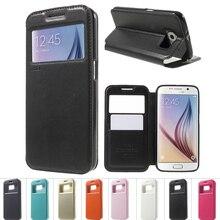 Для Samsung Galaxy S6 Дело ROAR КОРЕЯ Noble Вид из Окна Бумажник крышка Кожаный Чехол Флип Для Samsung S6 G920 с Розничной Коробке