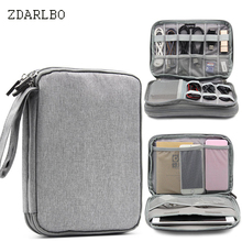 Travel portable packet Travel Bag Multi function Bag Data Line Charger Storage Bag Waterproof Large Capacity iPad To Store Bags