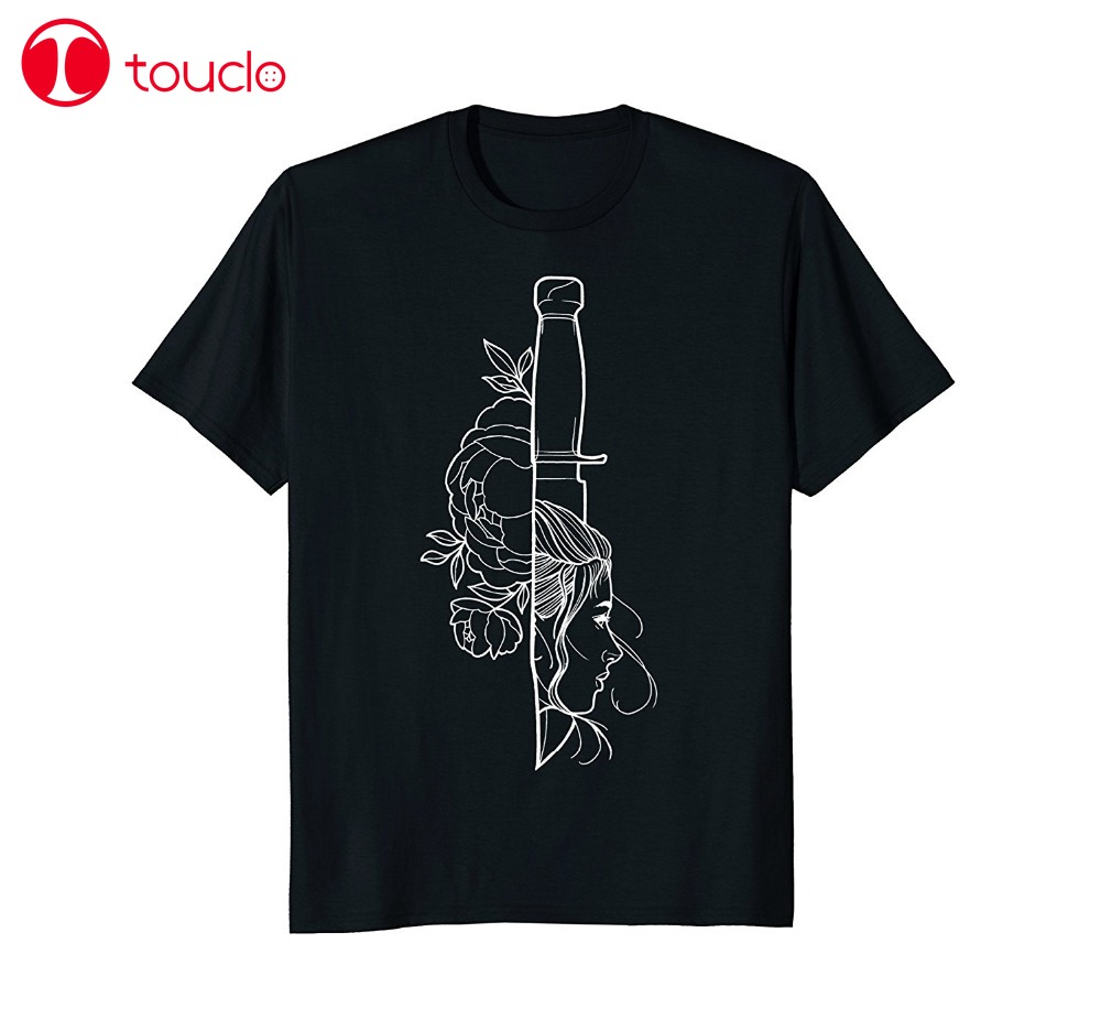 2019 New Tee Shirt Bowie Knife Lady Tee Fashion T-Shirt 2019 Design The You Want T-Shirt Hoodies image