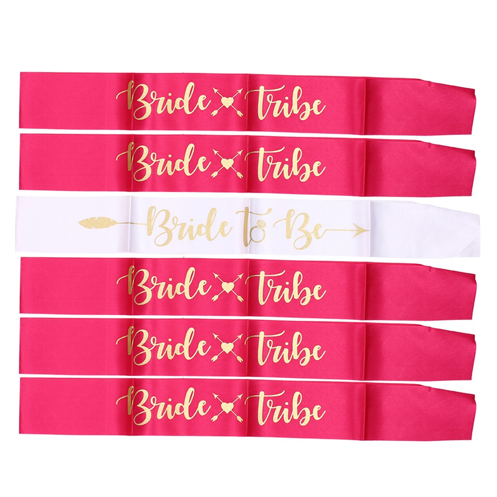 Image 5 - 7pcs Bride to Be Sash Short Queen Hot Mama Bachelorette Party Sash for Hen Party Wedding Decoration Team Bridal Shower-in Party DIY Decorations from Home & Garden