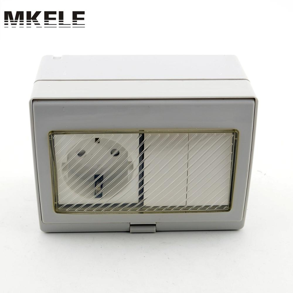 Mk Sbsr2s Hot Sale 16a 250v Rainproof Outdoor Wall Mount