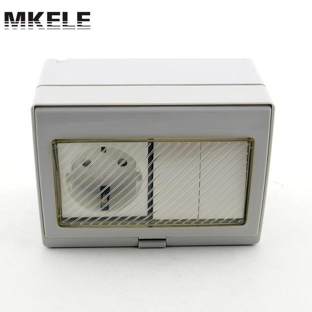 Mk Sbsr2s Hot Sale 16a 250v Rainproof Outdoor Wall Mount