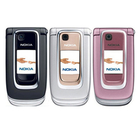 Original nokia 6131 rosa 2g gsm desbloqueado telefone móvel remodelado flip telefone & inglês árabe hebraico teclado russo|unlocked flip phones|flip phonemobile phone -