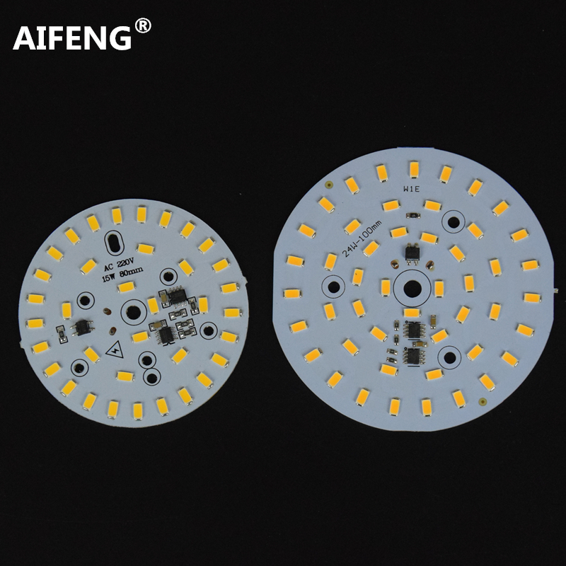 AIFENG AC220V integrated ic driver Light Source For <font><b>LED</b></font> Bulb <font><b>3W</b></font> 5W 7W 10W 12W 15W 18W 24W 5730 <font><b>SMD</b></font> with <font><b>led</b></font> pcb module plate image