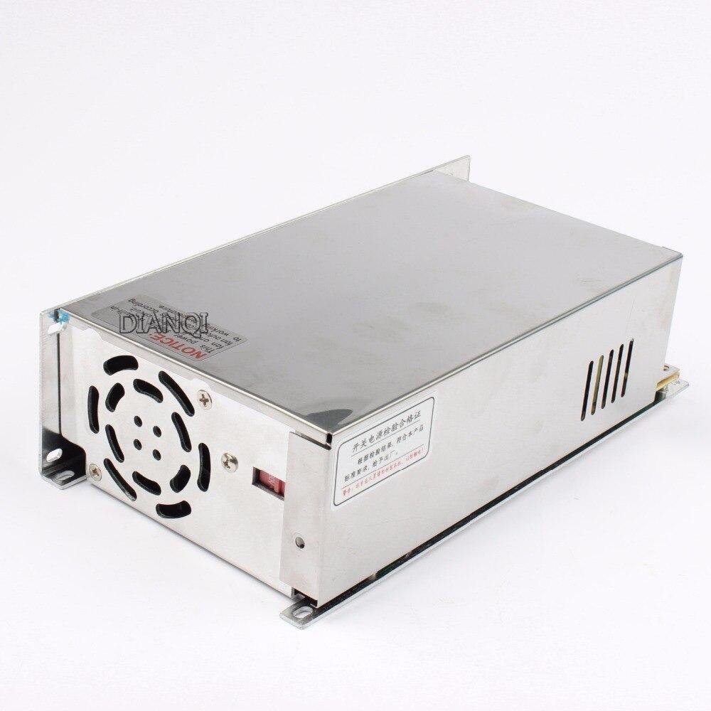 DIANQI switching power supply 600W 12V 13.5V 15V 24V 36V 48V ac to dc power supply Input 110v 220v ac dc converter good quality