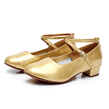 New Arrival Girl s Low Heel Modern font b Dance b font Shoes Women s Ballroom