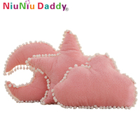 Niuniu Daddy Lovely Plush Toy Home Decoration Pillow Star Moon Cloud Pillow Toys Sky Series Stuffed Soft Cushion Sofa Bed Gifts