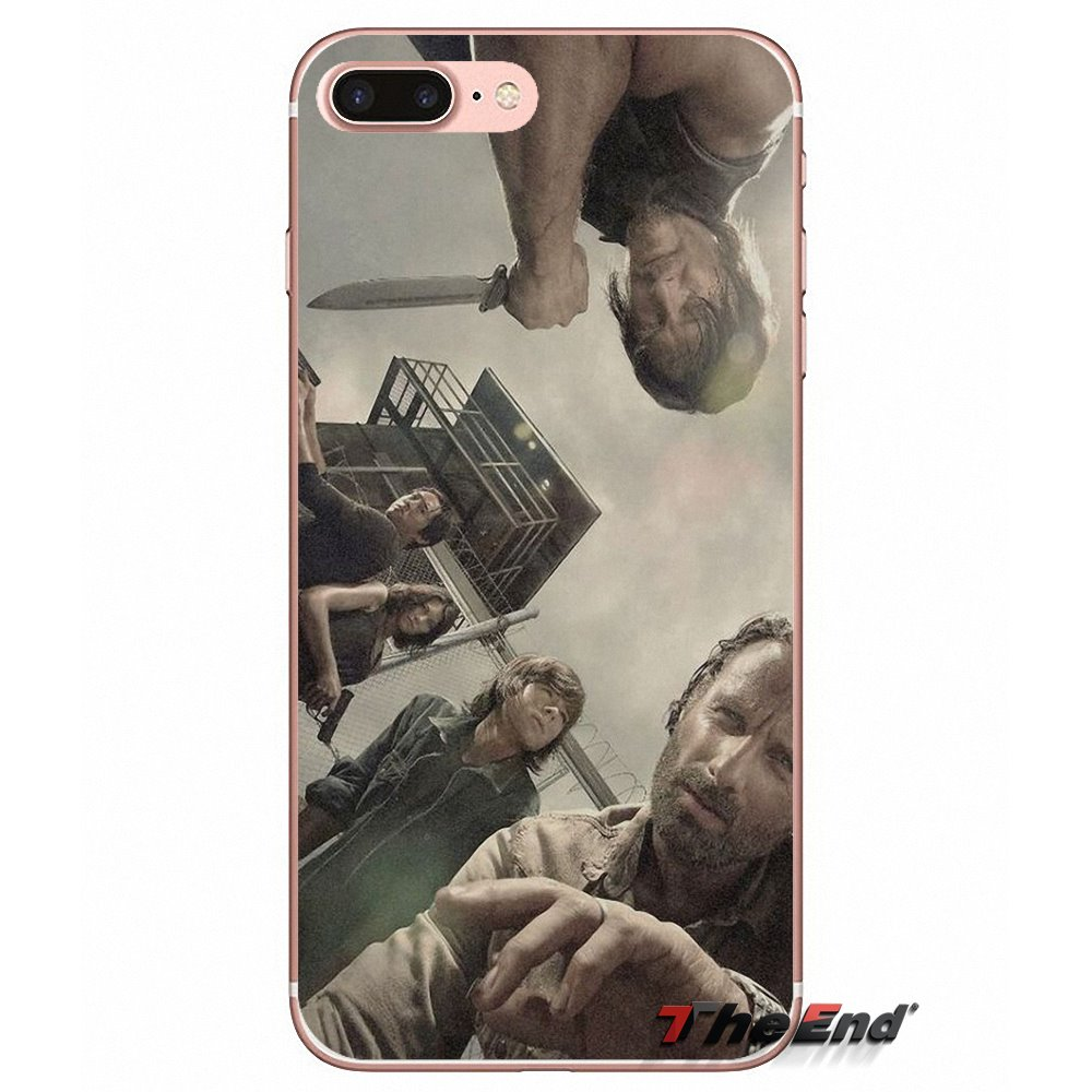 US $0 99 |the Walking Dead Soft Cell Phone Case Cover For Apple iPhone X 4  4S 5 5S SE 5C 6 6S 7 8 Plus 6Plus 7plus 8plus Fundas Coque-in Half-wrapped