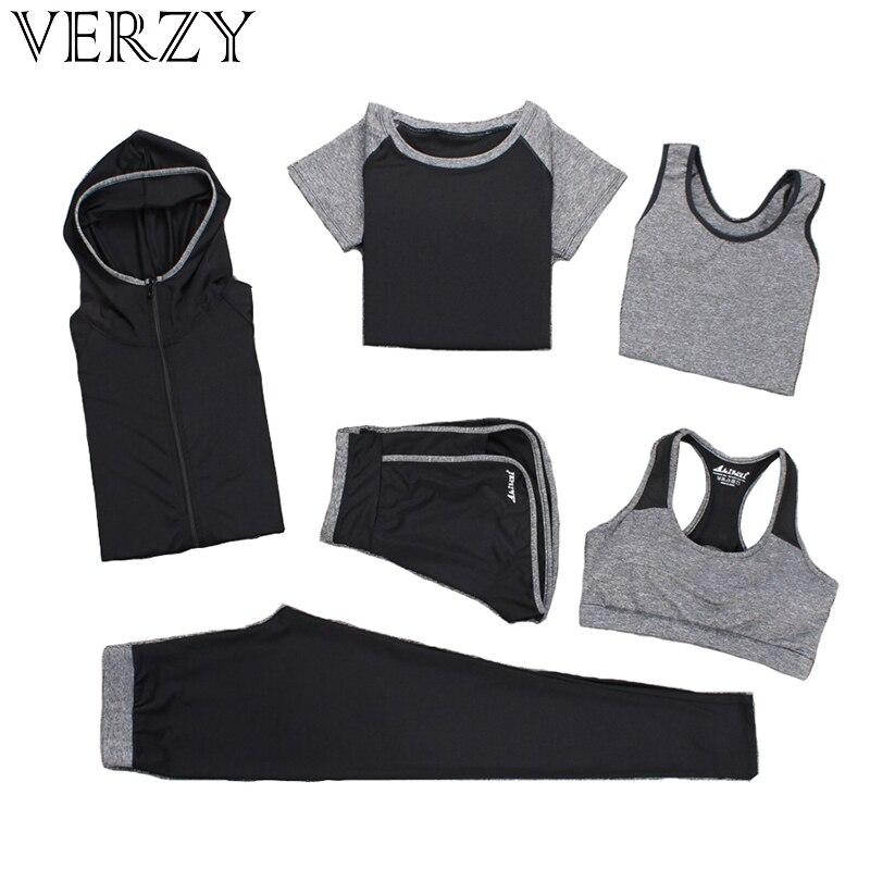①  Verzy Yoga Set Спортивный костюм для женщин Фитнес Бег Упражнение Спортивный бюстгальтер + брюки + р ①