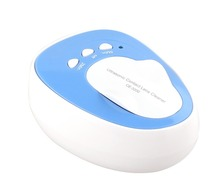 Electronic Digital Mini 7W 46Khz Ultrasonic Cleaning Machine Bath Washer Contact Lens Ultrasound Invisible glasses box