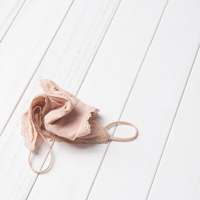 Women's Lace Trim Bikini Panties 3 Pcs Set