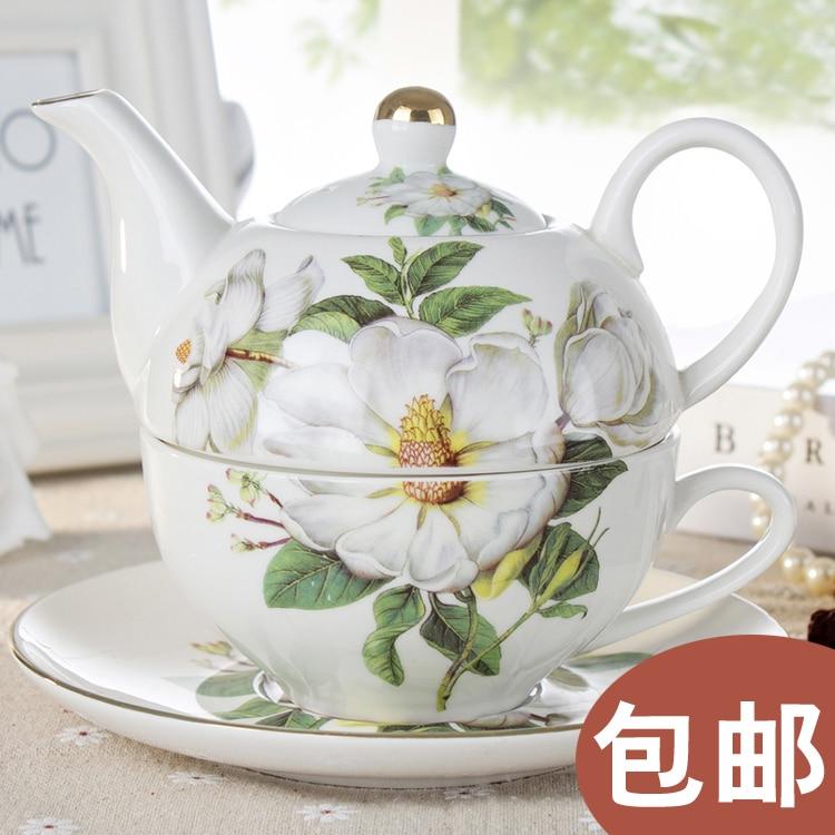 [] Offre spéciale chaque jour pot et soucoupe Magnolia mère élégante théière en céramique et thé de fleur élégant