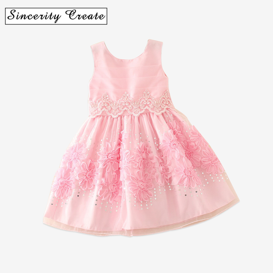 Girl Dress Princess Christmas Lace solid Kids Christening Events Party Wear Dresses For Girls Children Baby Red Clothes AD-1667 kids girls lace princess dress children party dress for wedding baby girl clothes toddler solid color costume robe file vestidos