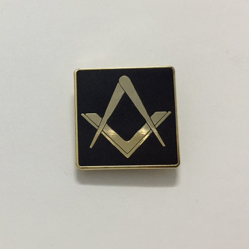 100pcs Custom Pins 19mm square and compass freemasonry free masons lapel pin metal badge craft souvenir