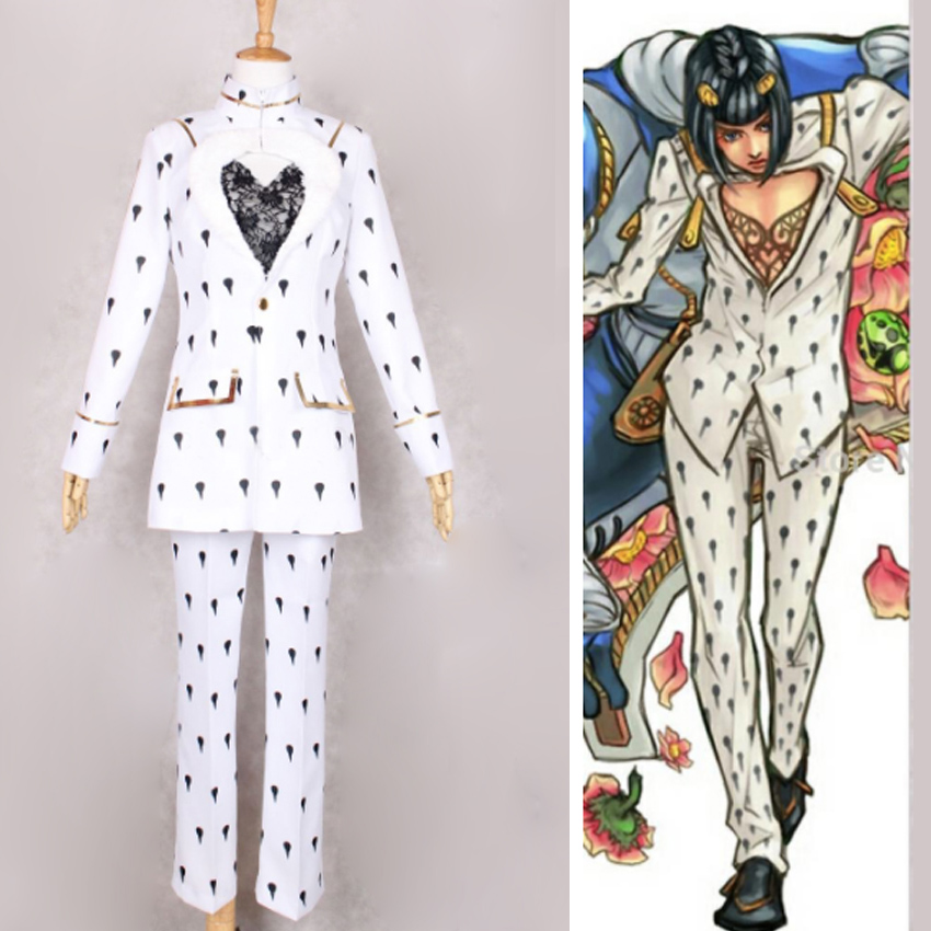 Uniformi Bizarre Adventure Golden Wind Kakyoin Noriaki Cosplay Halloween del Anime JoJo Suits Verdi Coat Pantaloni Set