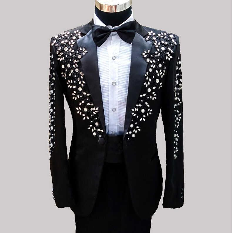 男性スーツテーラーメイド別注結婚式のスーツ男性スリムフィット新郎タキシード男性のpailletteの衣装男性フォーマルドレススリムスーツ