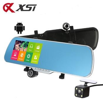 XST 5.0 Inch Android 4.4 FHD 1080P DVR dash camera GPS Navigation Wifi Car DVR Rearview mirror Dash Cam car camera Dual Lens